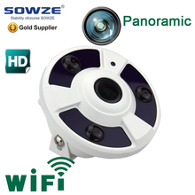 professional roof 1.3MP SD card audio wifi POE all in one 360 degree fisheye cctv camera