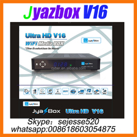 2015 Jyazbox Ultra HD V16 FTA Digital Satellite TV Receiver With turbo 8psk JB200 and Wifi adapter JyazBox v16 for north america
