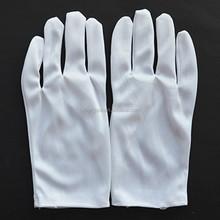 white nylon etiquette gloves inspection gloves jewellery gloves