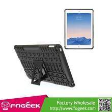 Anti-slip Tyre Tread PC + TPU Hybrid Case for iPad Air 2 With Kickstand