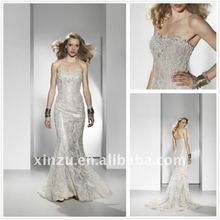 2012 Strapless Custom-Made Appliqued Mermaid Luxury Wedding Dresses XZ110894