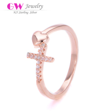 Factory Wholesale Silver cross rings stamped 925