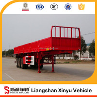 Carbon Steel 3 Axles 33 Ton Fence Truck Semi Trailer