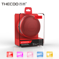 New design car handsfree wireless bluetooth mini multimedia speaker for smart mobile phones