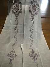2015 New grommet top hand embroidery curtain design for living room