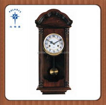 large decorative wood timepiece wall mounted clock