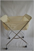 Four-wheel cart to receive basket, folding laundry basket,plastic laundry basket with handle