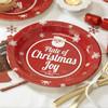 paper christmas plates craft