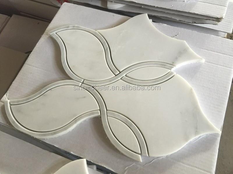 Ontwerp gepolijst marbl waterjet marmeren tegels ontwerp vloer ...