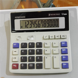Table 12 digit LCD display solar energy and battery power calculator