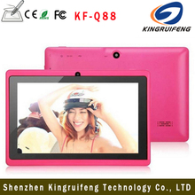 China best selling Q88 cheap tablet pc , Android 4.4 dual camera Allwinner 7inch tablet pc