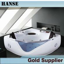 Hs-8042 bañera de esquina instal / fibra de vidrio personalizada bañera / d forma baño