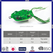 durable promotional colorful lures frog
