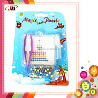 diy craft Aqua beads kit,magic water beads with pray container, board and tweezer in a blister box