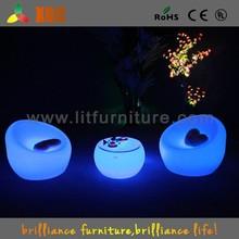 Li-ion battery led furniture sofa, illuminated led sofa, plastic led sofa