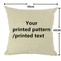 custom printed cushion cover 45x45 with your own design