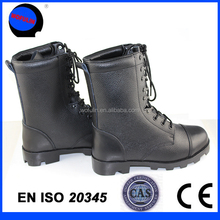 wearable genuine leather safety boots with steel toe cap for heavy duty work