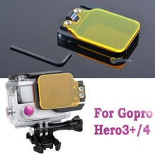 Under Water Color Filter for GoPros 3+ Camera Filter Dive Polarizer Go Pro 4 sports camera accessories