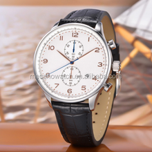 2015 Hot selling Custom men's stainless steel mechanical automatic multi-function watch