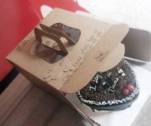 Custom Kraft cake box octagonal cupcake packaging