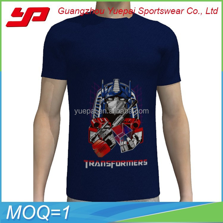 Wholesale custom combed cotton men short sleeve o neck t Custom t shirt digital printing
