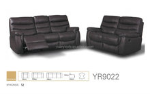 Black leather recliner living room sofa set for YR9022 Modren style home furniture