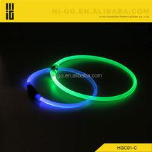 Colorful LED Flashing Dog Collar CE&RoHS LED Lighting Collar