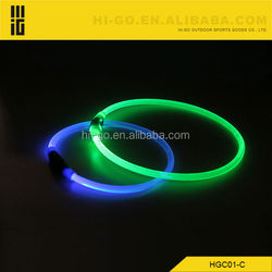 Colorful LED Flashing Dog Collar CE&RoHS LED Lighting Collar