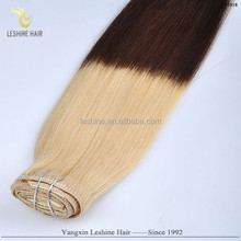 Best Seller Hair Bands Perfect Color Wholesale Price Tangle Free double drawn ombre hair weft