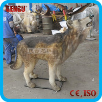 High quality amusement park equipment animatronic animal model wolf
