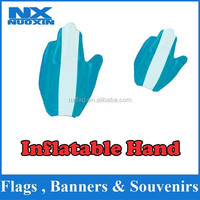 PVC printed good quality cheering inflatable middle finger hand