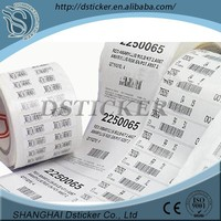 smooth surface high clearing thermal transfer barcode paper sticker
