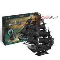 Cubicfun Queen Anne ' s Revenge Super 3D Paper Puzzle Ship Model