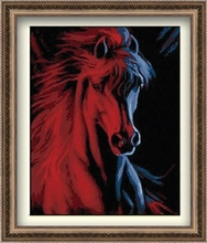 40*50cm horse head painting, horse painting calligraphy