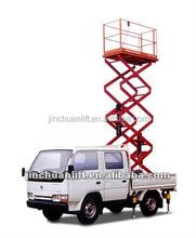 Mobile flexible car scissor lift platform