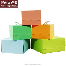 new design colorful cake box with special art paper