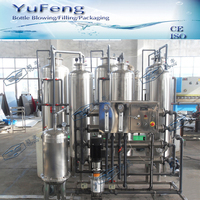 1000LPH 4 housings 5kg pressure resistance RO water treatment in compact size