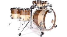 Liberty Drums Fusion Series 2tone Whiskey & Natural with Box Inlay