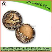Free artwork design custom quality P-38 Engravable Bronze Antique Challenge Coin