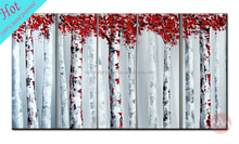 Wholesale tree modern group oil painting in 5 pieces