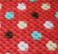 New design printed honeycomb/pineapple grid fabric for upholstary