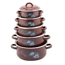 attractive and durable porcelain enamel cookware