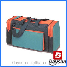 Fancy travel duffel bag with shoes compartment