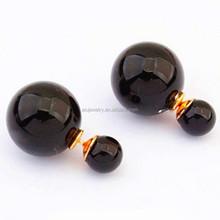 freshwater pearl jewelry , hot sell double side earrings