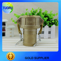 China Factory brass water hose quick coupling brass camlock coupling type C brass quick connect hose coupling