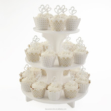 Wholesales folding acrylic cake stand for decorative