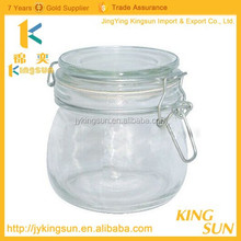 USA market glass jar for face cream/eye cream/glass storage jar with glass lid from Alibaba