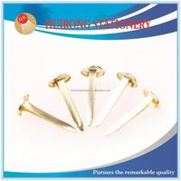 wholesale 8*19mm golden round brad nail, fastener brad for scrapbooking
