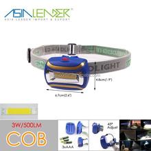 BT-4848 3*AAA Battery Powered ABS COB 3W LED Head Light