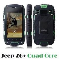 Jeep Z6 quad core MTK6582 Mobile Phone 4.0 inch Android 4.2 IP68 Waterproof Dustproof Shockproof Smartphone GPS